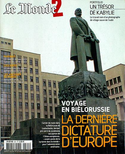 Le Monde 2 - 2015/05/21.Belarus.Photo: Martin Fejer
