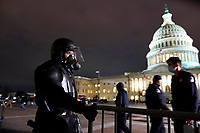 Authorities secure the area outside the U.S. Capitol, Wednesday, Jan. 6, 2021, in Washington. (AP Photo/Jacquelyn Martin)