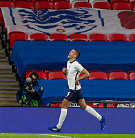 8th Occtober 2020, Wembley Stadium, London, England;  Englands Conor Coady celebrates after scoring during a friendly match between England and Wales in London