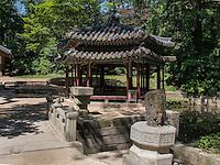 beim Jondeokjeong Pavillon im Secret Garden = Huwon= Biwon des Changdeokgung Palast, Seoul, Südkorea, Asien, UNESCO-Weltkulturerbe<br /> Near Jondeokjeong pavilion  in the secret garden of  palace Changdeokgung,  Seoul, South Korea, Asia UNESCO world-heritage