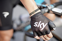Nicolas Roche's (IRL/SKY) meche gloves<br /> <br /> stage 16: Bourg de Péage - Gap (201km)<br /> 2015 Tour de France