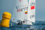 jian shi from China in action during the ISAF Sailing World Championships 2014 at the Real Club Maritimo of Santander on September 12, 2014 in Santander, Spain. Photo by Nacho Cubero / Power Sport Images