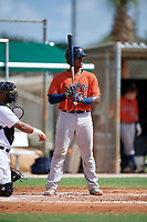 GCL Astros Nerio Rodriguez (58) at bat during a Gulf Coast League game against the GCL Marlins on August 8, 2019 at the Roger Dean Chevrolet Stadium Complex in Jupiter, Florida.  GCL Astros defeated GCL Marlins 4-2.  (Mike Janes/Four Seam Images)