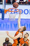 during the match of Endesa ACB League between Fuenlabrada Montakit and FC Barcelona Lassa at Fernando Martin Stadium in fuelnabrada,  Madrid, Spain. October 30, 2016. (ALTERPHOTOS/Rodrigo Jimenez)