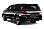 Car pictures of rear three quarter view of a 2019 Lincoln Navigator Select L Extended 4x2 5 Door SUV angular rear