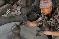 Pottery at Bhaktapur, Layaku Nepal