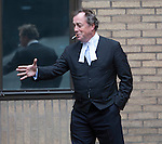 Pic shows: JOHN KELSEY-FRY QC<br /> outside Southwark Crown Court - smoking a cigarette<br /> <br /> <br /> <br /> <br /> Pic by Gavin Rodgers/Pixel 8000 Ltd