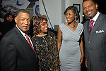 Gene Locke, Carol Galloway, Yolanda Smith and Artee T. Jones at the NAACP's Hollywood Comes to Houston party at Advantage BMW Thursday  Feb. 12, 2009.(Dave Rossman/For the Chronicle)
