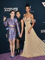 "LOS ANGELES, USA. November 12, 2019: Kristen Stewart, Naomi Scott & Ella Balinska at the world premiere of ""Charlie's Angels"" at the Regency Village Theatre.<br /> Picture: Paul Smith/Featureflash"