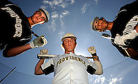 Providence High School baseball players (from left) Walker Lockett, Ty Kelly and Danny Umbreit are the team sluggers leading the Stallions to the regional finals in Jacksonville, Florida. (The Florida Times-Union, Rick Wilson)