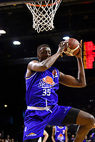 Romaro Gill of the Wellington Saints during the round one NBL match between the Wellington Saints and the Canterbury Rams at TSB Bank Arena, Wellington, New Zealand on Friday 30 April 2021.<br /> Photo by Masanori Udagawa. <br /> www.photowellington.photoshelter.com