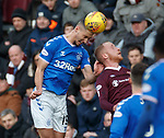 26.01.2020 Hearts v Rangers: Nikola Katic and Liam Boyce