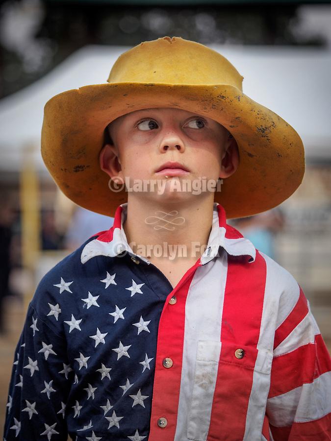 Opening day of the 80th Amador County Fair, Plymouth, Calif.<br /> <br /> Mutton Bustin' preliminary<br /> .<br /> .<br /> .<br /> .<br /> #AmadorCountyFair, #1SmallCounty Fair, #PlymouthCalifornia, #TourAmador, #VisitAmador