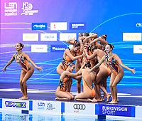 Artistic Swimming<br /> Gala<br /> Team Greece<br /> Evangelia Platanioti GRE Greece<br /> XXXV LEN European Aquatic Championships<br /> Duna Arena<br /> Budapest  - Hungary  11/5/2021<br /> Photo Pasquale Francesco Mesiano / Deepbluemedia / Insidefoto