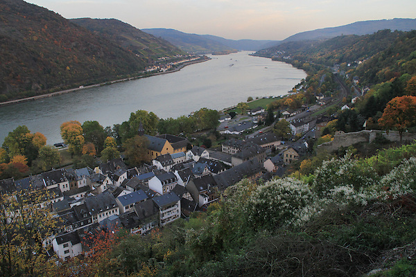 Village along the Rhine River Valley, France