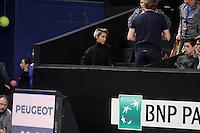 Shy'm est venue assister ‡ la dÈfaite de Benoit Paire au 1er tour du tournoi de l'Open 13 ‡ Marseille, France, le 22 fevrier 2017.
