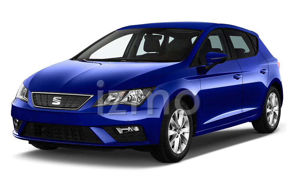 2017 Seat Leon Style 5 Door Hatchback Angular Front stock photos of front three quarter view