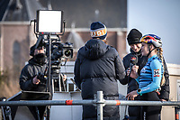 Evie Richards (GBR/Trek Factory Racing CX) post race Red Bull TV interview<br /> <br /> Elite Womens Race <br /> UCI Cyclocross Worldcup – Hoogerheide (Netherlands)<br /> ©kramon