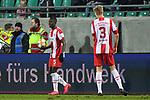 14.02.2020, Preußenstadion, Münster, GER, 3.FBL, SC Preussen Muenster vs. FC Wuerzburger Kickers, <br /> <br /> DFL REGULATIONS PROHIBIT ANY USE OF PHOTOGRAPHS AS IMAGE SEQUENCES AND/OR QUASI-VIDEO<br /> <br /> im Bild<br /> Leroy Kwadwo (FC Würzburger Kickers #5), Aktion / Einzelbild /<br /> <br /> Foto © nordphoto / Paetzel