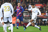 Raphael Varane, Antoine Griezmann<br /> <br /> <br /> 18/12/2019 <br /> Barcelona - Real Madrid<br /> Calcio La Liga 2019/2020 <br /> Photo Paco Largo Panoramic/insidefoto <br /> ITALY ONLY