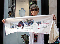 "01.08.2014 - ""Protest Israeli Blood Diamonds"" - Demo Outside De Beers Jewellery"