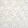 Adonis, a waterjet mosaic shown in honed Afyon White and Shell, is part of the Aurora® collection by New Ravenna.