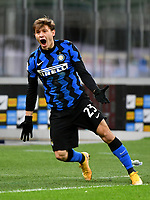 Football Soccer: Tim Cup Quarter Finals InternazionaleMIlan vs Milan, Giuseppe Meazza Stadium (San Siro) Milan, on January 26, 2021.<br /> Inter's Nicolò Barella during the Italian Tim Cup football match between Inter  and Milan at the Giuseppe Meazza stadium in Milan, January 26, 2021.<br /> UPDATE IMAGES PRESS/Isabella Bonotto