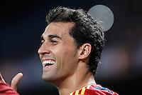Spain's national team Alvaro Arbeloa celebrates during match. October 16, 2012. (ALTERPHOTOS/Alvaro Hernandez) /NORTEPhoto