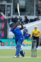 Deandra Dottin, London Spirit goes over the top of wide mid wicket for six runs during London Spirit Women vs Trent Rockets Women, The Hundred Cricket at Lord's Cricket Ground on 29th July 2021