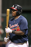 Atlanta Braves first baseman William Beckwith #27 during an Instructional League game against the Houston Astros at Wide World of Sports on September 28, 2011 in Kissimmee, Florida.  (Mike Janes/Four Seam Images)