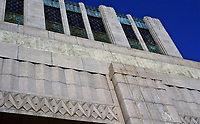 Los Angeles:  Bullock's Wilshire--detail of Art Deco  style. Photo Dec. 1987.