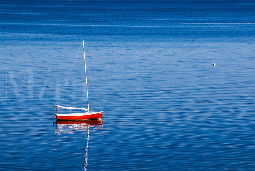 Sailboat, Eastham, Cape Cod, Massachusetts, USA.