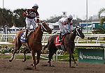 7 February 2009: Jockey Shaun Bridgmahon celebrates winning the Silverbulletday Stakes aboard War Echo on Risen Star Stakes Day at the Fair Grounds Race Course in New Orleans, Louisiana.