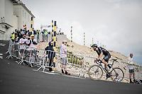 Joris Nieuwenhuis (NED/DSM) coming over the Mont Ventoux<br /> <br /> Stage 11 from Sorgues to Malaucène (199km) running twice over the infamous Mont Ventoux<br /> 108th Tour de France 2021 (2.UWT)<br /> <br /> ©kramon