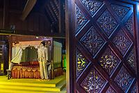 Sultan's Bedroom in the Sultan's Palace Museum, Istana Kesultanan, Melaka, Malaysia.