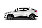 Car driver side profile view of a 2018 Toyota C-HR C-LUB 5 Door SUV
