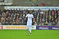 swansea...sport..swansea v aston villa...friday 26th december 2014...<br /> <br /> <br /> Swansea's Bafetimbi Gomis