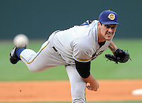 August 2, 2008: New York Yankees pitcher Carl Pavano pitched in a rehab assignment with the Charleston River Dogs in a game against the Greenville Drive at Fluor Field at the West End in Greenville, S.C. Pavano pitched three innings, giving up one run on five hits with two strikeouts for the Yankees' Class A South Atlantic League affiliate. Photo by:  Tom Priddy/Four Seam Images
