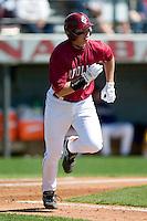 South Carolina first baseman Justin Smoak (12) runs down the first base line versus LSU at Sarge Frye Stadium in Columbia, SC, Thursday, March 18, 2007.