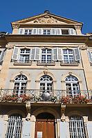 Europe/Suisse/Jura Suisse/ Neuchâtel: Maison Style Louis XV de la vieille ville