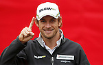 New Formula One World Champion F! Jenson Button .Buewater Shopping Centre - Virgin Speedweek 50.photocall Kent....Picture by Gavin Rodgers/ Pixel 07917221968