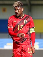 captain Brandon Baiye (13) of Belgium pictured during a friendly soccer game between KVC Westerlo and Belgium U21 on Tuesday 30 th of March 2021  in Het Kuipje , Westerlo Belgium . PHOTO SPORTPIX.BE | SPP | SEVIL OKTEM
