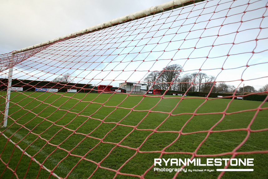 General View of Newhill ahead of the Tipperary Cup 1st Round game between Two Mile Borris and Clonmel Town  on Sunday 9th December 2018 at Newhill, Two Mile Borris Co Tipperary. Mandatory Credit: Michael P Ryan.