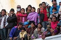 Bodhnath, Nepal.  Nepalese Crowd Watching Dancers at a Wedding Celebration.