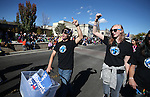U.S. Senate candidate Catherine Cortez Masto supporters march in the annual Nevada Day parade in Carson City, Nev. on Saturday, Oct. 29, 2016. <br />Photo by Cathleen Allison