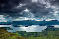 The Luss Hills from Conic Hill above Balmaha, Loch Lomond and the Trossachs National Park