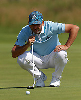 15th July 2021; Royal St Georges Golf Club, Sandwich, Kent, England; The Open Championship, PGA Tour, European Tour Golf, First Round ; Sergio Garcia (ESP) lines up his putt on the 1st green