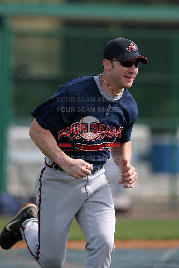 Atlanta Braves minor leaguer Carl Loadenthal during Spring Training at Disney's Wide World of Sports on March 15, 2007 in Orlando, Florida.  (Mike Janes/Four Seam Images)