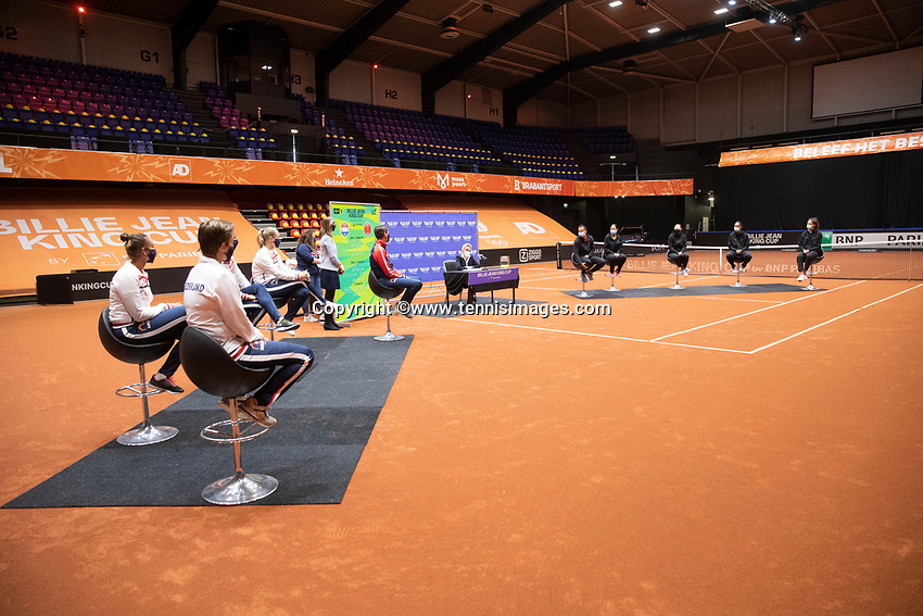 Den Bosch, The Netherlands, April 15, 2021,    Maaspoort, Billy Jean King Cup  Netherlands -  China : Draw ,   Aranxta Rus (NED)<br /> Photo: Tennisimages/Henk Koster