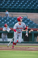 AZL Reds second baseman Cash Case (4) at bat against the AZL Giants on August 12, 2017 at Scottsdale Stadium in Scottsdale, Arizona. AZL Giants defeated the AZL Reds 1-0. (Zachary Lucy/Four Seam Images)